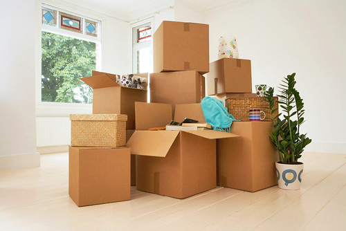 Moving Tips - picture of boxes in an apartment